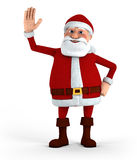 Santa waving Stock Image