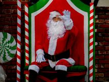 Santa Waving royalty free stock photos