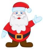 Santa on white. Santa waves by the hand, illustration Royalty Free Stock Photo