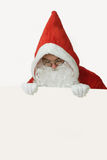 Santa with White Advertising Space Stock Images