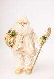 Santa in white dress Royalty Free Stock Images