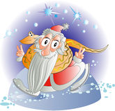 Santa will win Royalty Free Stock Image