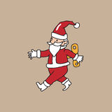 Santa wind up Royalty Free Stock Images