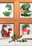 Santa At The Window Royalty Free Stock Image