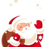 Santa winking Royalty Free Stock Image