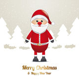 Santa winter snow landscape brown white Stock Photo