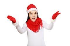 Santa winter woman Stock Photography