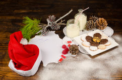 Santa wish list still life Royalty Free Stock Photos