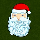 Santa wishing Merry Christmas Royalty Free Stock Photo