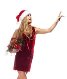 Santa woman Royalty Free Stock Photos