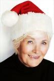 Santa woman stock images