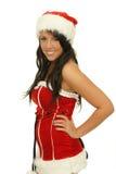 Santa woman stock photo