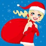 Santa Woman Bag Photographie stock libre de droits
