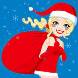 Santa Woman Bag Royalty Free Stock Photography