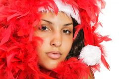 Santa woman close portrait Stock Images