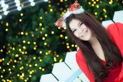 Santa woman dressed Royalty Free Stock Photo