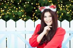Santa woman dressed Royalty Free Stock Photos