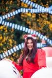 Santa woman dressed Royalty Free Stock Images