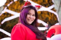 Santa woman dressed Royalty Free Stock Image