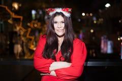 Santa woman dressing Stock Images