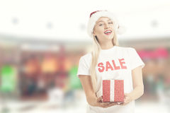 Santa woman Stock Photo