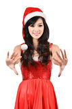 Santa woman Isolated on white background Royalty Free Stock Photo