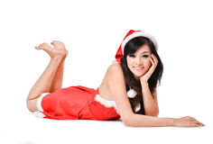 Santa woman Isolated on white background Stock Photography