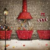 Santa Workshop royalty-vrije illustratie
