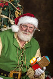 Santa in workshop Stock Photography