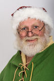 Santa in workshop Royalty Free Stock Photos