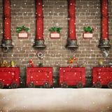 Santa Workshop vector illustration