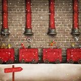 Santa Workshop Royalty Free Stock Images