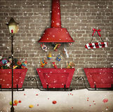 Santa Workshop royalty free illustration