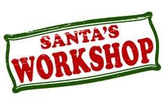 Santa workshop. Stamp with text Santa workshop inside, illustration vector illustration