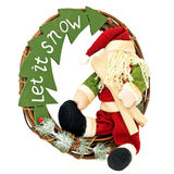 Santa wreath Stock Images