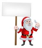Santa Wrench Sign Stockfoto