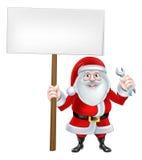 Santa Wrench Sign Lizenzfreie Stockfotos