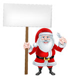 Santa Wrench Sign Stock Photo