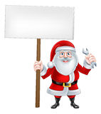 Santa Wrench Sign Royalty Free Stock Photos