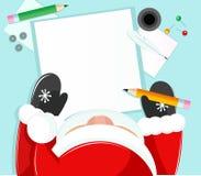 Santa writing Stock Image