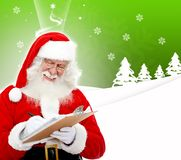 Santa writing a list Stock Image
