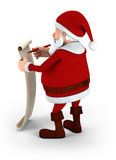 Santa writing on list Royalty Free Stock Images