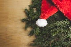 Santa& x27; s帽子 库存图片