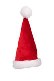 Santa's hat standing straight isolated on pure white Stock Photography