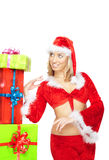 Santa and Xmas gifts Royalty Free Stock Images
