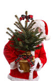 Santa with xmas tree Stock Photos