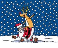Santa y amigo Imagen de archivo