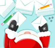 Santa y cartas Foto de archivo libre de regalías
