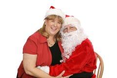 Santa y la señora Fotos de archivo