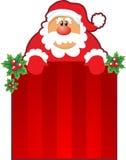 Santa y rectángulo de la Navidad Foto de archivo libre de regalías
